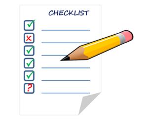Eine Checkliste hilft beim Bauen die Übersicht zu behalten